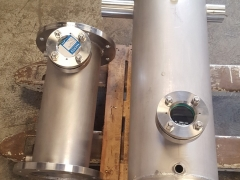 Boilermaking parts of stainless steel manufactured in our workshop
