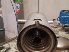 Fabricación en taller (condensador serpentín)