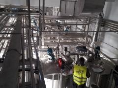 Salle d'homogénéisation du lait