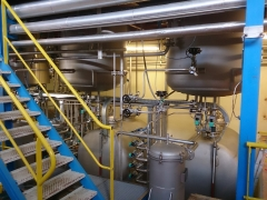 Détail d'une installation pour l'extraction d'essences