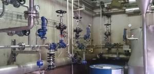 Distribución y control de vapor para alambiques